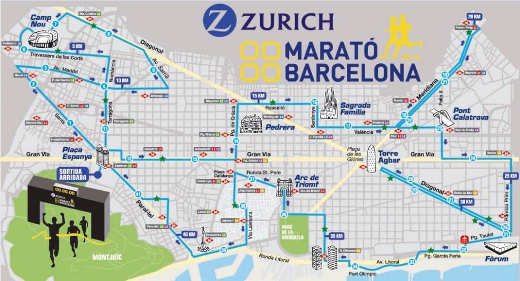 profil du parcours du marathon 2015