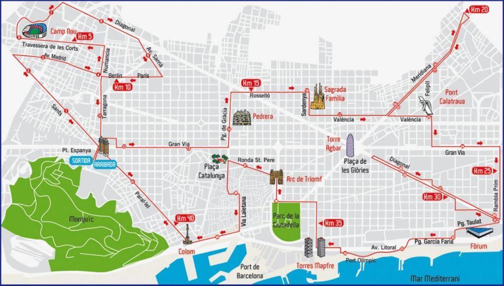 profil du parcours du marathon 2013